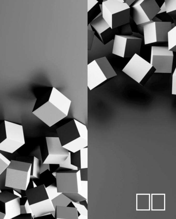 Quadro geométrico em vidro